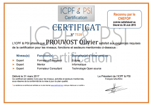 certificat ICPF